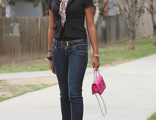 Denim casual outfit