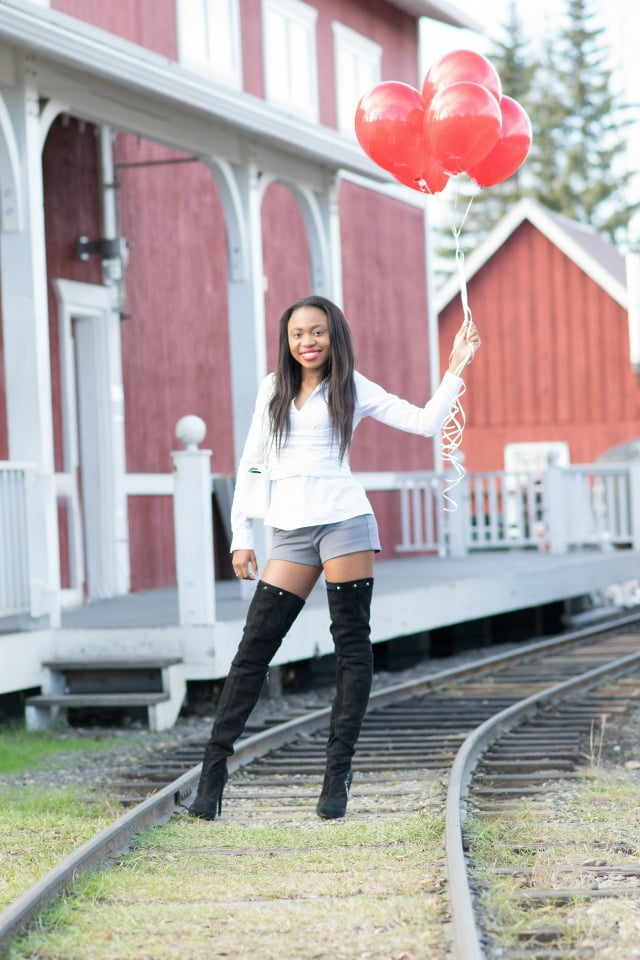 La Passion Voutee, Alaska fashion, thigh high boots 2015, Fall birthday outfit