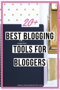 20+ Best Blogging Tools and Resources | Discover the top 26 blogging tools we use and recommend that bloggers use to grow their blogs. I know how important this is because having a comprehensive list of top blogging tools would have been a tremendous resource for me when I started blogging a few years ago. I have put together this detailed list of the top blogging tools and services that I use and highly recommend. Everything you need in one place. Click to get the scoop.