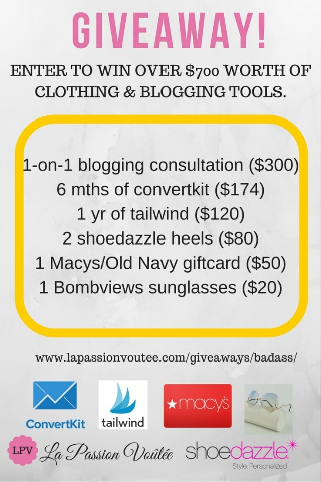 Giveaway! Enter to win over $700 worth of fashion and blogging tools.
