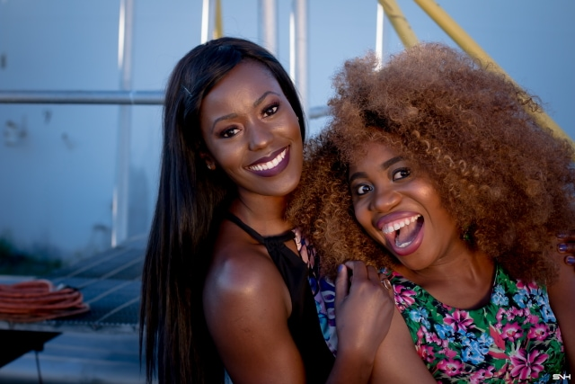 """Now, this is how you make a bold color statement! 🌈 Love how these two melanin beauties nailed their bold color looks. From deep rich pink to mustard yellow and bright blue. They kept their makeup and accessories to a minimum. The essence of """"let your outfit do the talking."""" I would wear this outfit any day. Color Pop: How to rock bold colors this season. #ootd #melanin"""
