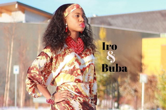 Iro and Buba | A contemporary spin on the traditional Nigerian Buba and Iro worn effortlessly