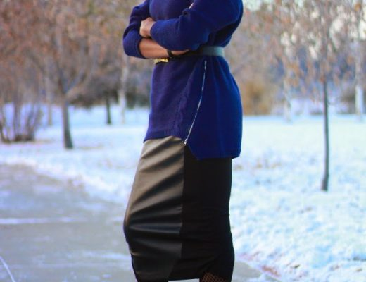 Winter outfit with skirt