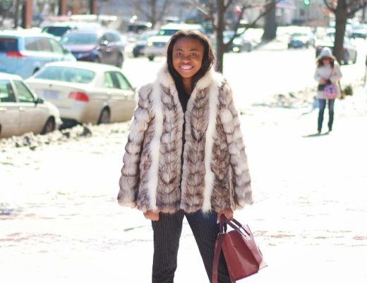 Real fur outfit