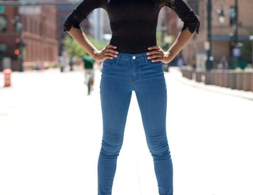 Simple skinny jeans outfit