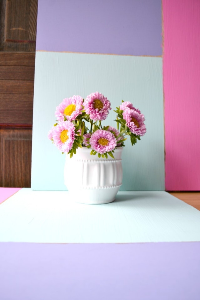 DIY painted wood surface as a photo backdrop for product image