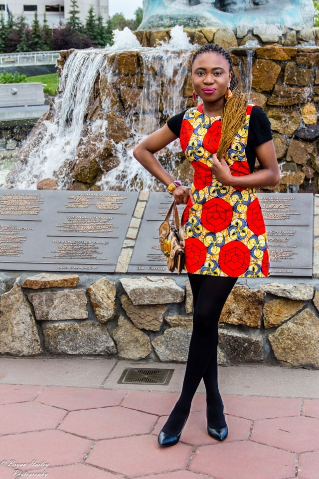 Blogger Collab Ankara African Print Outfit La Passion