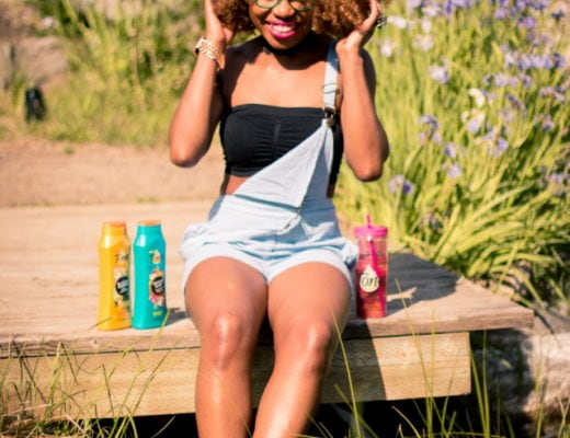 My Brazilian Glam Summer Outfit   This is one preppy romper outfit. Her chambray look is perfect for the summer heat. The green geeky glasses and straw bowler hat is a must-have! style blogger, style blogger summer, street style, style bloggers & street style, style blogger faves, fashion womens, fashion ideas, street style summer, Tone Skin Care