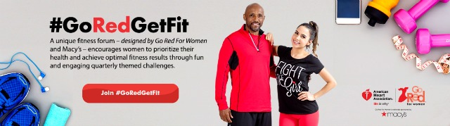 A little progress each day adds up to big results. Find out 5 things you can do to Go Red For Women today as you embark on your fitness journey. #GoRedGetFit