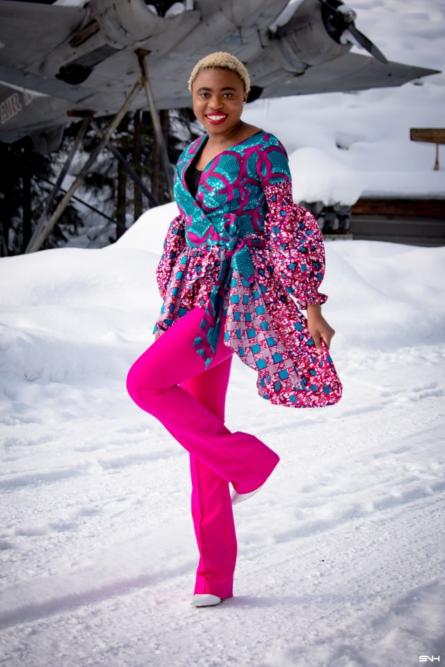 Make a bold statement this season in breathtaking African print styles. It will surprise you how easy it is for anyone to rock African fashion like this ankara peplum top. This fun African clothing series shares some casual and elaborate African outfits that'll keep you glued to you screen! Get the scoop! #ankara #africanprint #ankarafashion