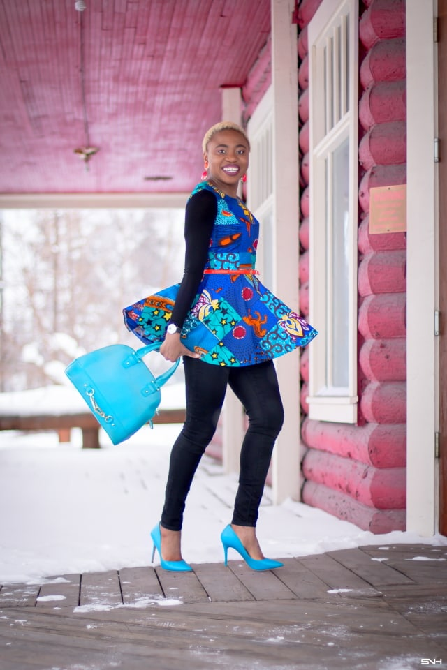 ef5eb89e256b9 This African print peplum top has me obsessed with ankara styles and  patchwork designs. Fashion