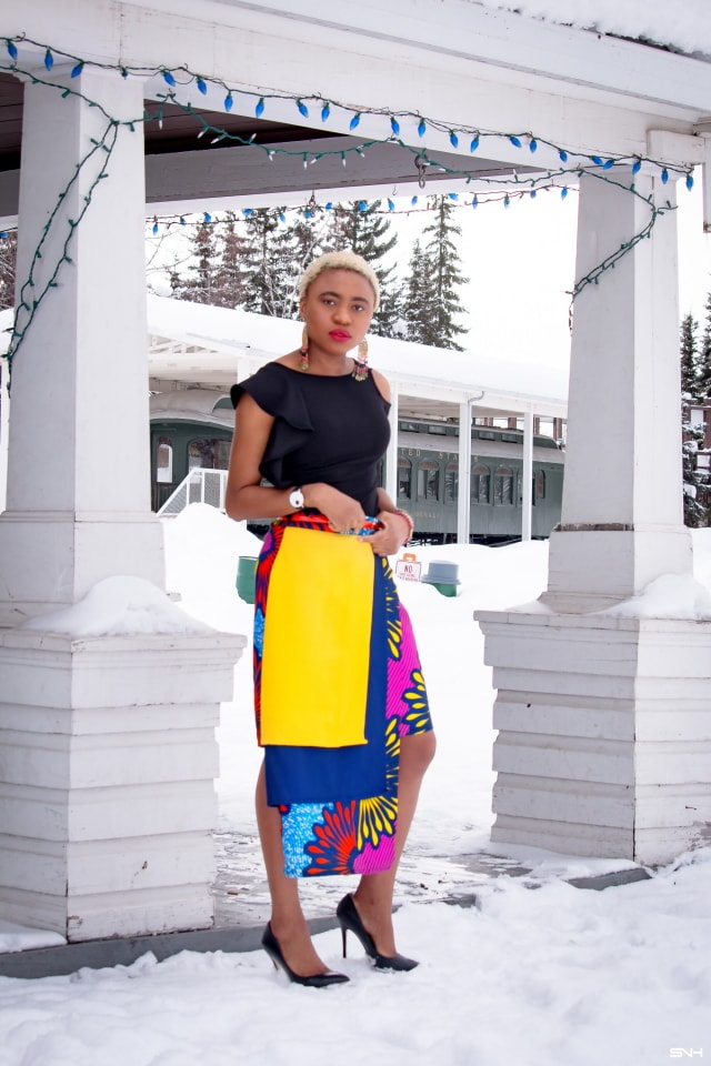 Louisa slays again in this asymmetrical African print layered skirt! Ankara fashion is becoming a frequent appearance in mainstream fashion. And contemporary pieces like this skirt make it easy to wear afrocentric pieces that are stylish and modern. You can wear this skirt to a variety of occasions. Love me some #nigerianfashion #kente #ankara #africanprint