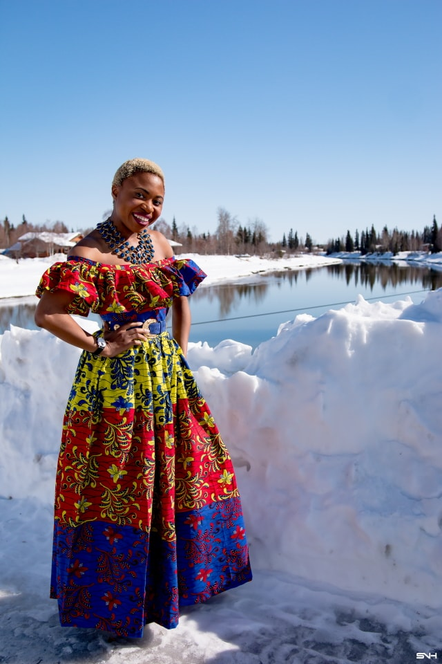 Looking for the cutest African print dress? You're in the right place! Get the scoop on this stunning ankara dress and where to score cheap African dresses. #wakanda Dashiki, African print dress, African fashion, African women dresses, African prints, Nigerian style