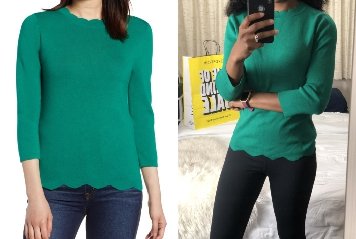 The Best of Nordstrom Anniversary Sale 2018 | What I Kept or Returned! See real outfit photos with sizing tips, style suggestions and more for all of the hottest anniversary sale items. If there is only one item you get from the Nordstrom Sale, it should be this... Halogen scallop hem sweater. nordstrom anniversary sale review, ag jeans sale nordstrom, nordstrom anniversary sale haul 2018, nordstrom anniversary sale guide 2018