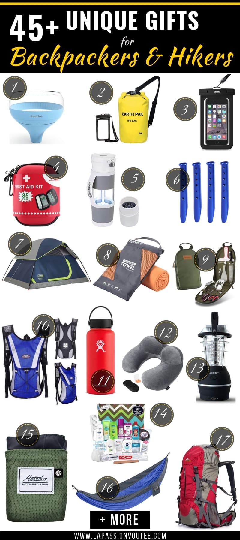 Your ultimate guide to the best gifts for backpackers, hikers, and adventure seekers. Everything you need to know before getting the wanderlust traveler a present today.